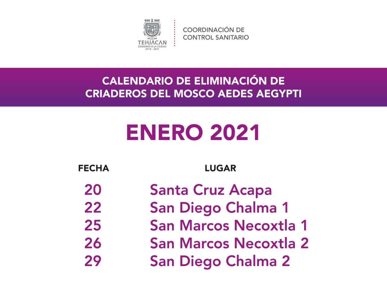 CONTROL SANITARIO INVITA A LA CIUDADANÍA A LAS JORNADAS DE ELIMINACIÓN DE CRIADEROS DE MOSQUITOS